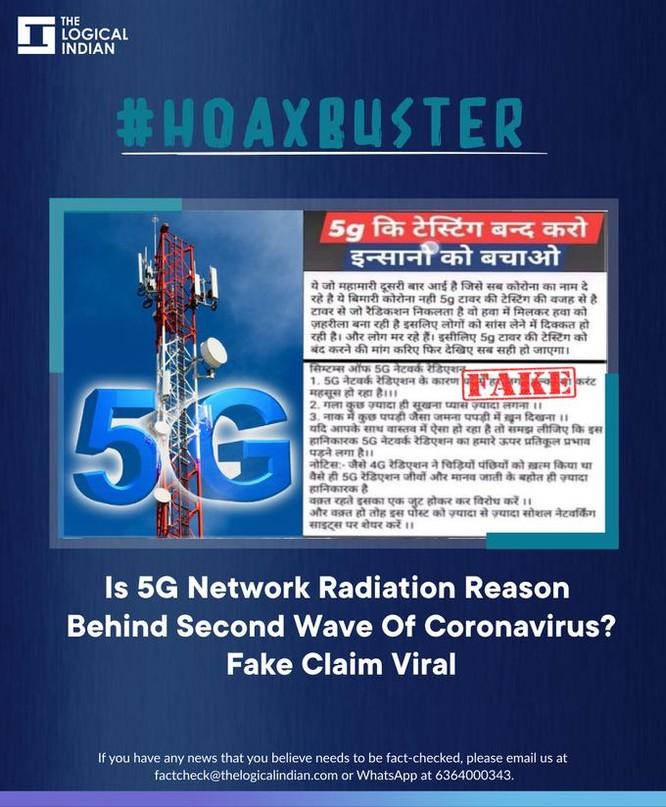Nhiều người Ấn Độ nghĩ bệnh nhân Covid tử vong vì sóng 5G ảnh 1