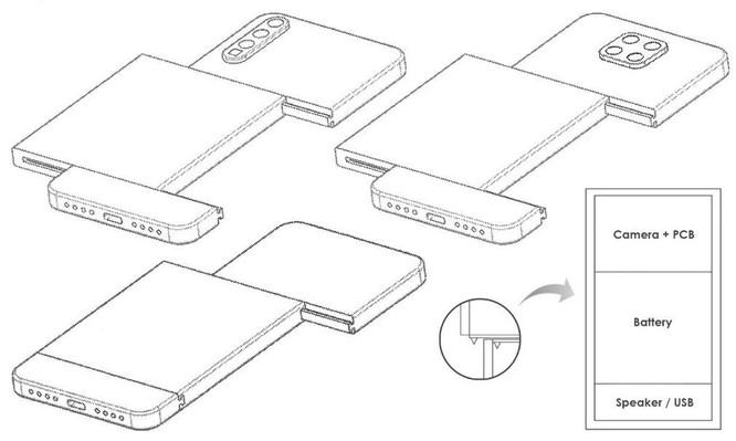 Xiaomi đăng ký sáng chế thiết kế điện thoại dạng module ảnh 1