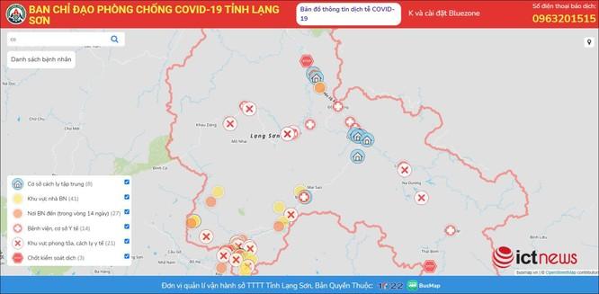 Lạng Sơn ra mắt bản đồ Covid-19 cập nhật tình hình dịch theo thời gian thực ảnh 2