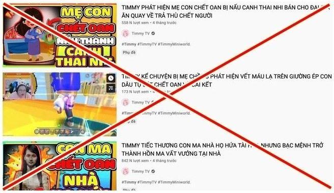 Kênh YouTube Timmy TV bị phạt 15 triệu đồng ảnh 1