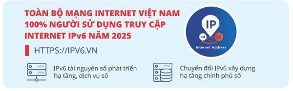 Chuyển đổi IPv6 - tài nguyên phát triển hạ tầng số ở Việt Nam ảnh 3