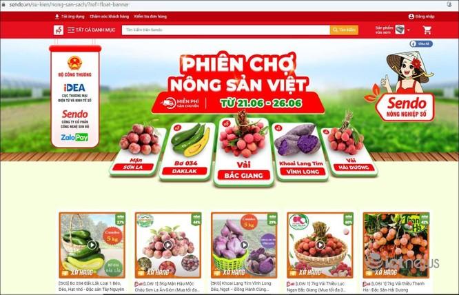 """Nông dân 5 tỉnh mang đặc sản lên bán tại """"Phiên chợ nông sản Việt trực tuyến"""" ảnh 1"""