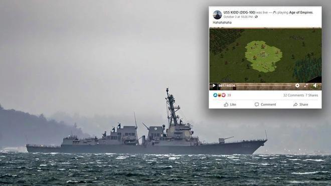 Trang Facebook của tàu chiến Mỹ bị hacker chiếm đoạt để livestream game ảnh 1