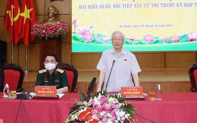 TBT Nguyễn Phú Trọng: Hà Nội phải dẫn đầu, xứng đáng Thủ đô anh hùng của dân tộc Việt Nam anh hùng ảnh 1