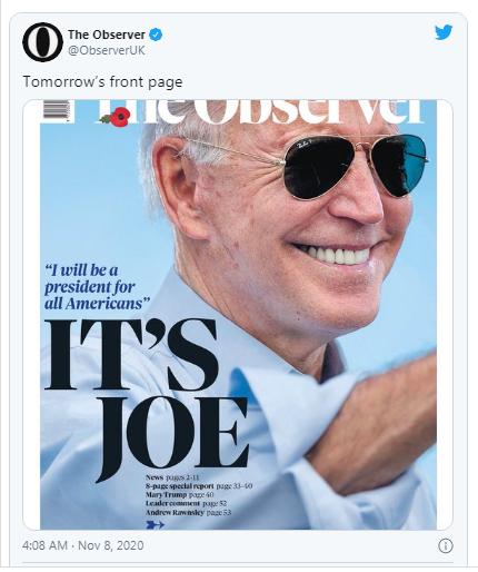 Báo chí quốc tế bàn tán rôm rả về chiến thắng của Biden ảnh 1