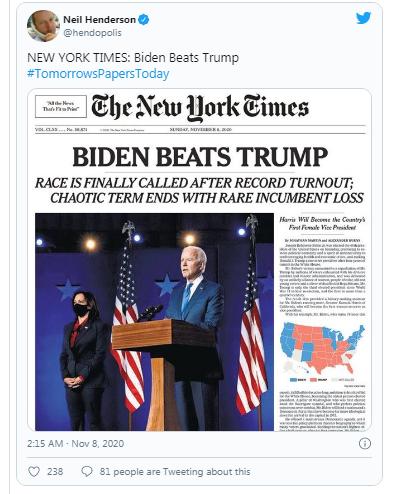 Báo chí quốc tế bàn tán rôm rả về chiến thắng của Biden ảnh 4