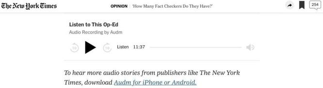 The New York Times, BBC, The Washington Post đã tận dụng âm thanh như thế nào? ảnh 1