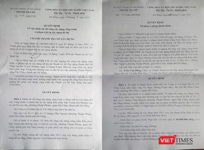 Đà Nẵng, xây dựng, thanh tra, xử phạt, trái phép, dự án, Vũ Châu Long, công trình, VietTimes