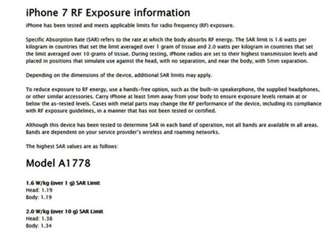 trang tin, cảnh báo, người dùng, iPhone 7, ảnh hưởng, tần số vô truyến, rò sóng, Apple, VietTimes
