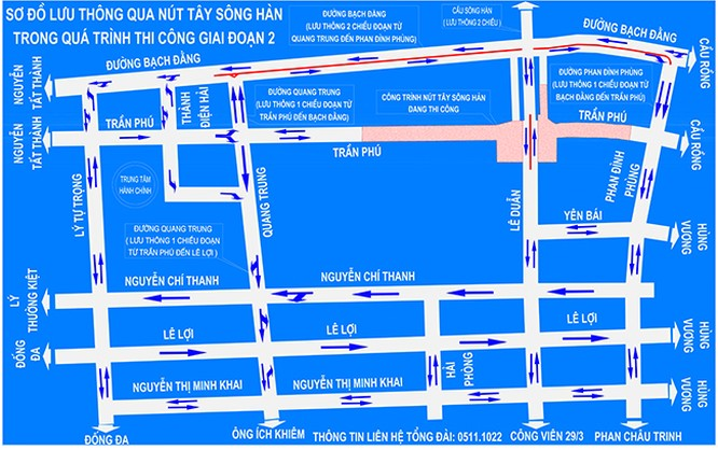 VietTimes, UBND TP Đà Nẵng, phân luồng giao thông, Nút giao thông, Cầu Sông Hàn, lưu thông, 2 chiều