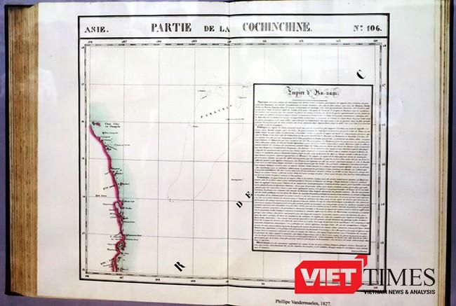 bản đồ, PATTIE DE LA COCHINCHINE, Atlas thế giới, nhà Địa lý học Phillipe Vandermaelen, tư liệu, chủ quyền, Hoàng Sa, Việt Nam, VietTimes