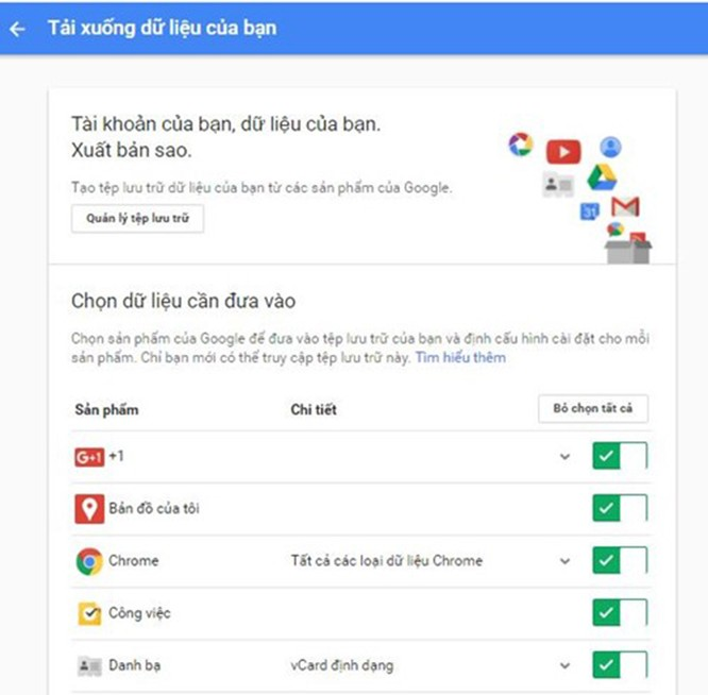 VietTimes, android, Facebook, Google, sao lưu dữ liệu, thủ thuật Google