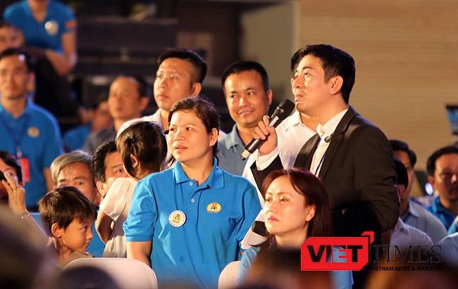 Chị Phan Thị Tuyết Sương, công nhân Cty TNHH Điện tử Foster (Quảng Nam)ý kiến về Đề án về xây dựng các Thiết chế công đoàn