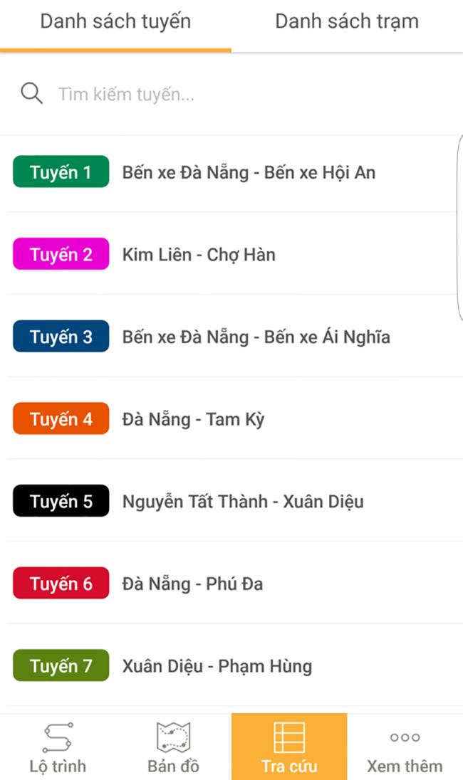 VietTimes, Ứng dụng Danabus, tra cứu lộ trình tuyến, tiện ích sử dụng xe buýt, Đà Nẵng, GTVT
