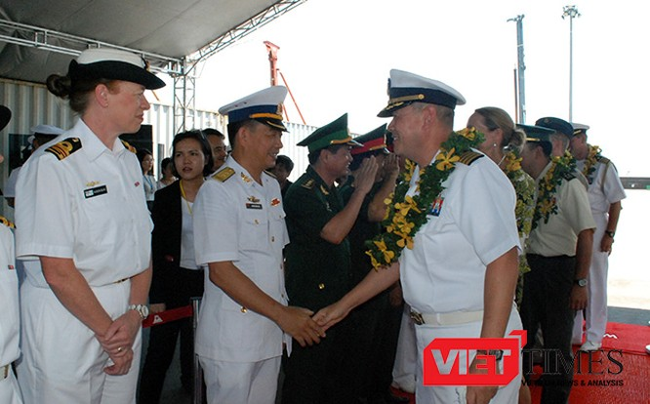 Chuyên gia quân sự, y tế, Anh Mỹ, Nhật, Đà Nẵng, chương trình đối tác Thái Bình Dương 2017, PP17, VietTimes, USNS Fall River, Hải quân