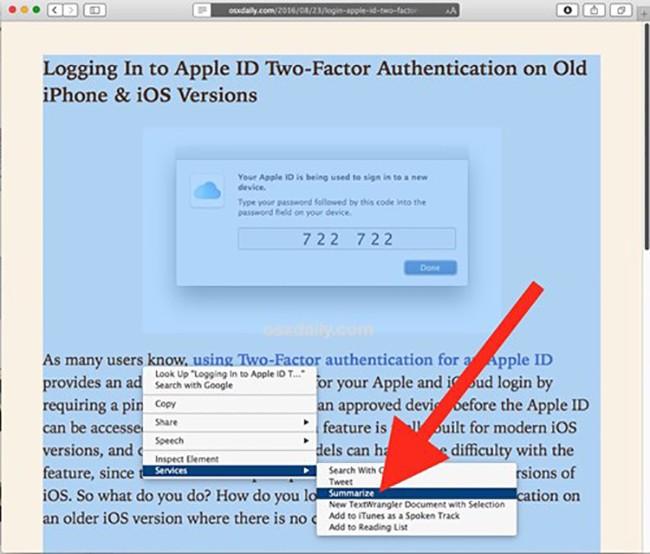 MacOS: Tóm lược nội dung văn bản với Summarize ảnh 2