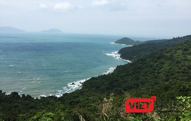 Một góc bán đảo Sơn Trà nhìn ra biển
