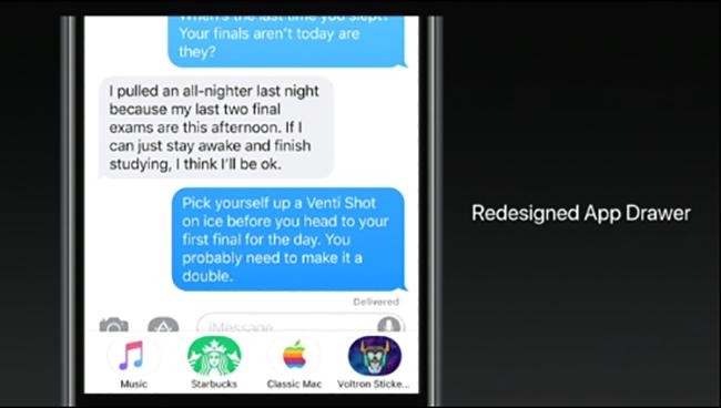 Giao diện ứng dụng Tin nhắn dược thiết kế lại, dễ dùng và nhiều tính năng hơn.