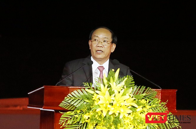 ông Đinh Văn Thu, Chủ tịch UBND tỉnh Quảng Nam thay mặt lãnh đạo và nhân dân tỉnh Quảng Nam gửi lời cảm ơn đến các đồng chí lãnh đạo Đảng, Nhà nước, các Bộ, ngành Trung ương, các địa phương và các vị khách quốc tế đã đến tham dự Festival