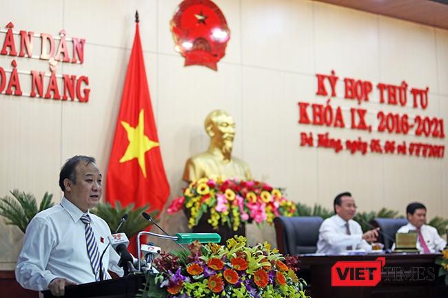 """ông Lê Quang Nam-Giám đốc Sở TNMT TP Đà Nẵng cho biết: """"Tính đến thời điểm hiện tại, Sở TNMT chưa nhận được bất cứ hồ sơ liên quan nào đến việc xin cấp giấy chứng nhận quyền sử dụng đất, sở hữu nhà và trả tiền sử dụng đất đối với toàn bộ khu chung cư của Công ty Vicoland"""
