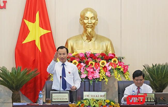Ông Nguyễn Xuân Anh, Bí thư Thành ủy, Chủ tịch HĐND TP Đà Nẵng điều hành Kỳ họp HĐND TP Đà Nẵng lần thứ 4 vừa diễn ra từ ngày 5/7-7/7