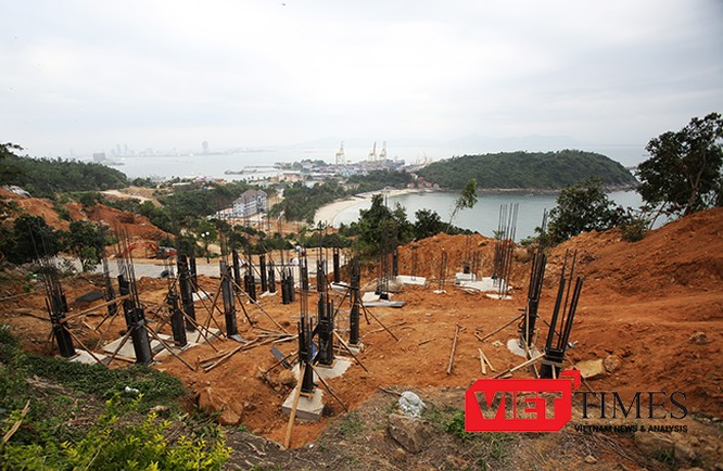 Kiến nghị yêu cầu tháo dỡ các móng công trình xây dựng trái phép tại Dự án Khu du lịch nghỉ dưỡng Biển Tiên Sa