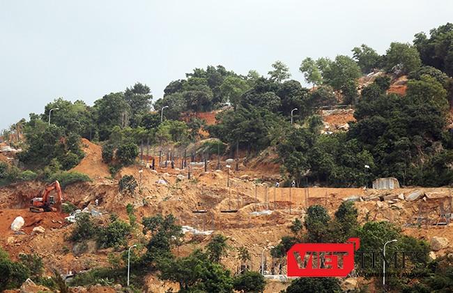 Một góc rừng Sơn Trà bị xày xới để xây dựng Dự án khu du lịch gây chú ý của dư luận trong và ngoài nước