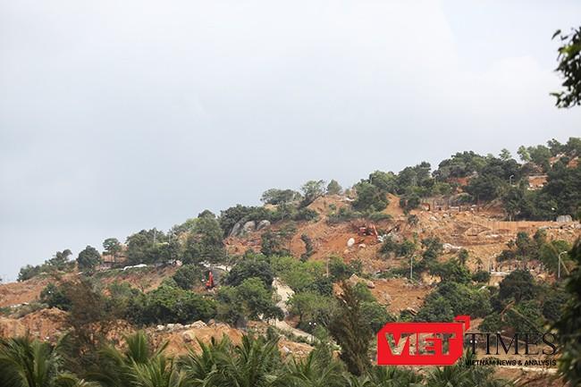 Hiện trường thi công Dự án Khu du lịch Biển Tiên Sa đã băm nát cả một góc rừng Sơn Trà