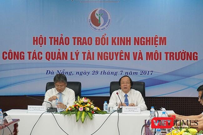 Hội thảo do Thứ trưởng Bộ TNMT Võ Tuấn Nhân và Phó Chủ tịch UBND TP Đà Nẵng Nguyễn Ngọc Tuấn chủ trì, cùng sự tham dự của đại diện lãnh đạo Bộ và các cơ quan, đơn vị thuộc Bộ TNMT; đại diện lãnh đạo UBND và Sở TN&MT các tỉnh thành từ Đà Nẵng đến Bình Thuận.