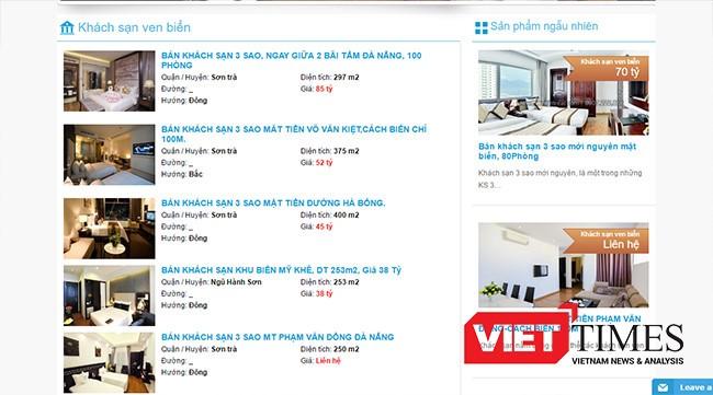 Tình trạng rao bán khách sạn dưới 3 sao tại Đà Nẵng diễn ra trong thời gian qua