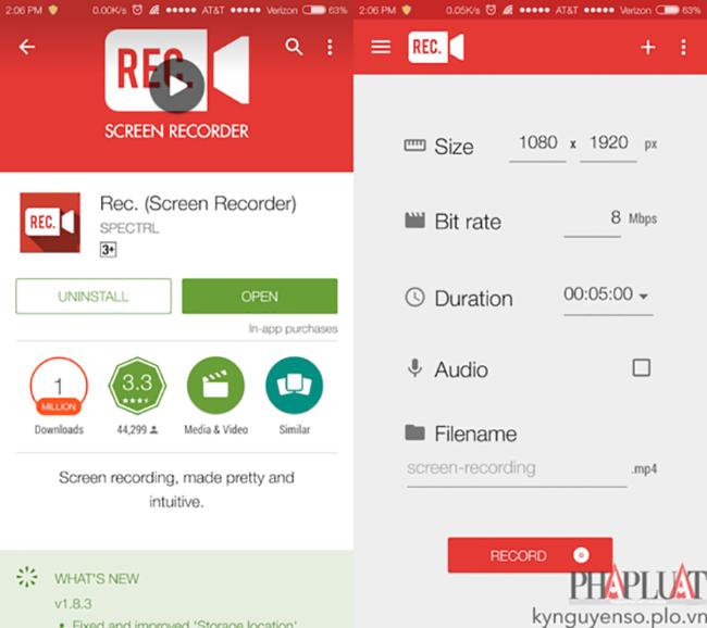 Mẹo quay phim màn hình trên Android và iOS ảnh 1
