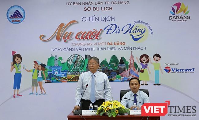 Ông Nguyễn Ngọc Tuấn, Phó Chủ tịch UBND TP Đà Nẵng phát biểu phát động chương trình tại buổi họp báo