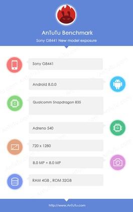 Smartphone mới của Sony lộ cấu hình với chip Snapdragon 835 ảnh 1