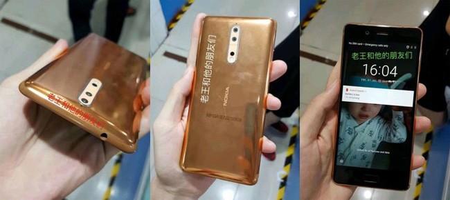 Hé lộ hình ảnh Nokia 8 màu đồng trên dây chuyền sản xuất ảnh 1