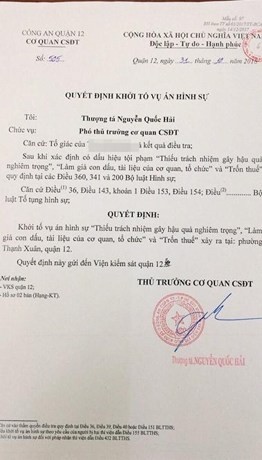 TP.HCM: Khởi tố vụ phân lô bán nền trái phép ở quận 12 ảnh 1
