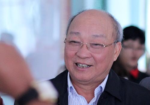 Ông Nguyễn Quốc Triệu cho biết sáng nay ông Thanh đã tỉnh táo, ăn uống tốt. Ảnh: Nguyễn Đông.