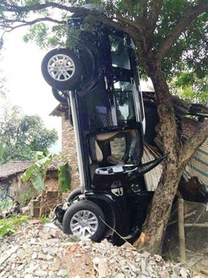 Chiếc ô tô gây tai nạn tại hiện trường vào thời điểm vụ tai nạn xảy ra