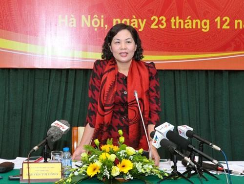 Phó thống đốc NHNN Nguyễn Thị Hồng