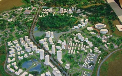 Phối cảnh thị trấn sinh thái Chúc Sơn (nguồn: website Tập đoàn Nam Cường)