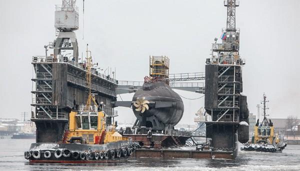 Hoàn thiện phần mũi tàu ngầm Bà Rịa - Vũng Tàu tại Nhà máy Admiralty - Ảnh: Nhà máy Admiralty