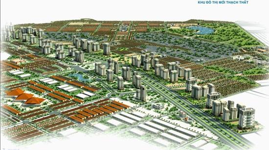 Phối cảnh Khu đô thị mới Thạch Thất (nguồn: website Tập đoàn Nam Cường)