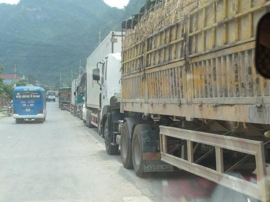 Hàng trăm xe dưa hấu, thanh long ùn tắc ở cửa khẩu Tân Thanh ảnh 2