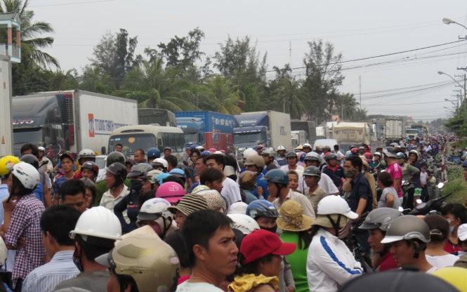 Vụ việc gây tắc nghẽn giao thông quốc lộ 1 với hàng trăm xe ùn ứ