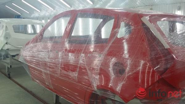 Xe ô tô 4 chỗ thương hiệu VG của Vinaxuki có tỷ lệ nội địa hóa lên tới 50%. Phần khung xe hoàn toàn do Vinaxuki thiết kế, lắp ráp