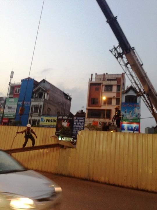 Hiện trường vụ tai nạn mới nhất tại dự án đường sắt trên cao Cát Linh- Hà Đông