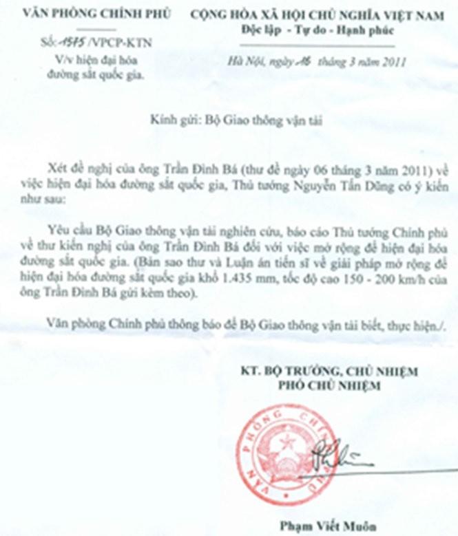 """Ông Trần Đình Bá """"phản pháo"""" những thông tin của Bộ GTVT ảnh 2"""