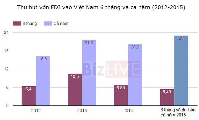 """Vốn """"ngoại"""" đổ vào Việt Nam thấp nhất 4 năm ảnh 1"""
