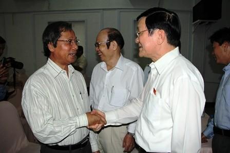 """Chủ tịch nước Trương Tấn Sang: """"Địch ta không sợ mà ta với ta lại sợ"""" ảnh 2"""