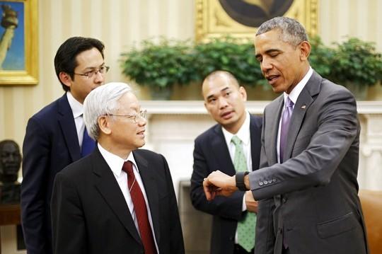 Việt-Mỹ gặp gỡ lịch sử: Dự kiến 45, hội đàm kéo dài 95 phút ảnh 1