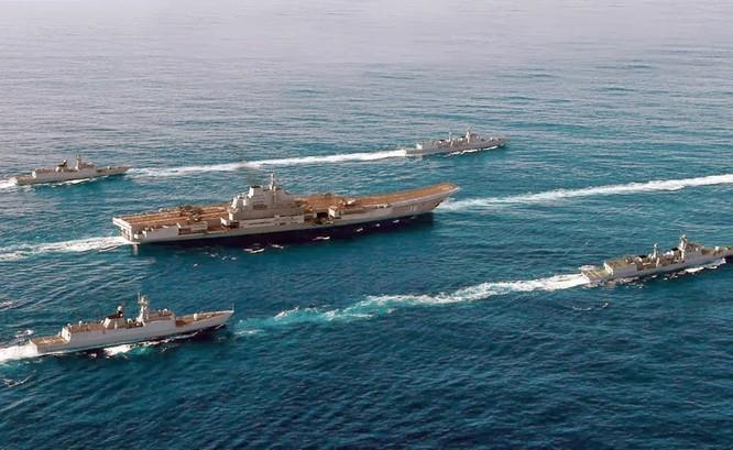 Trung Quốc thực hành lập nhóm tàu tác chiến sân bay với tàu Liêu Ninh